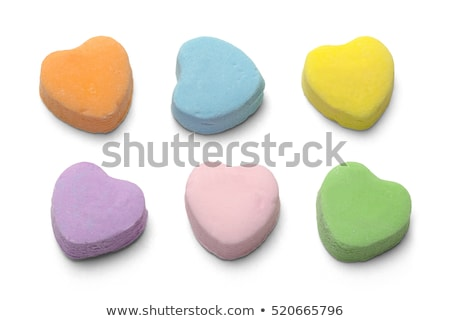 Valentine mavi yalıtılmış şeker kalp beyaz Stok fotoğraf © saje