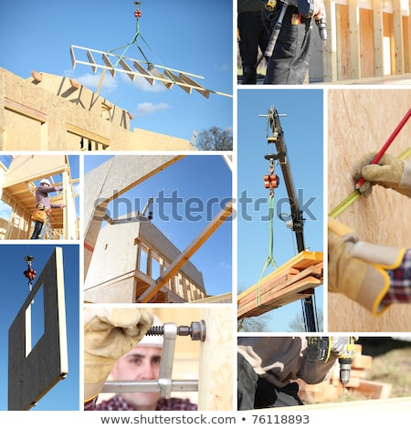 collage of a building site stock photo © photography33