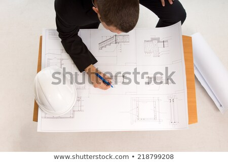 Foreman unsure about building plans Stock photo © photography33
