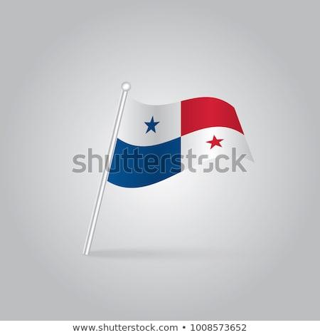 Minyatür bayrak Panama yalıtılmış iş Stok fotoğraf © bosphorus