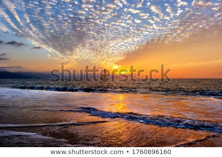 sailboats by the sea at sunset Stock photo © sirylok