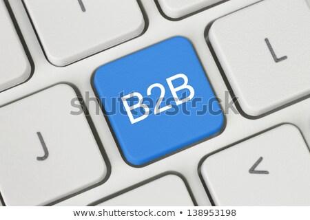 Woord b2b digitale toetsenbord geld textuur Stockfoto © fotoscool