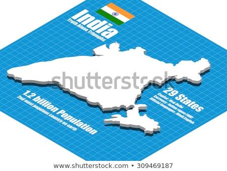 digitale · illustratie · zakelijke · grafiek · Indië · kaart · vlag · markt - stockfoto © 4designersart