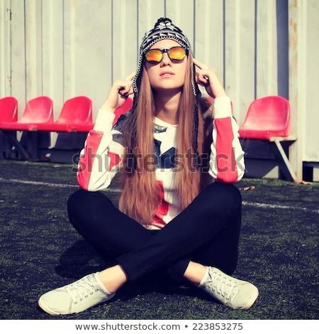 smiling nerd dressed casually  Stock photo © feedough