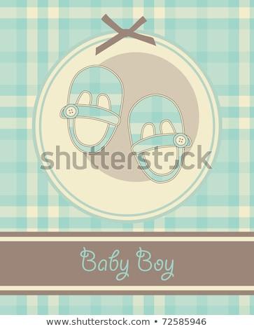 Baby chłopca karty mały sportu buty Zdjęcia stock © compuinfoto