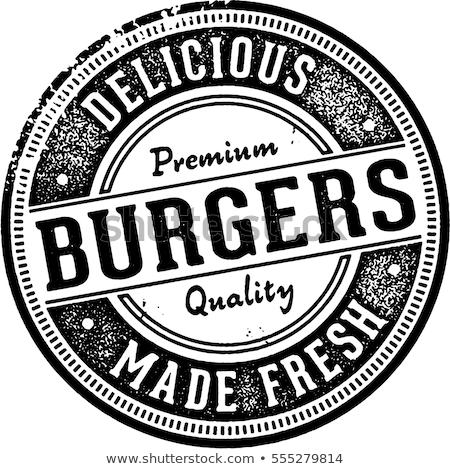 ヴィンテージ ハンバーガー メニュー スタンプ コレクション スタイル ストックフォト © squarelogo