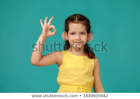 Child's hand showing ok sign Stock photo © Len44ik
