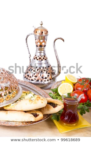 Turkish Pide with ibrik and vegetables Stock photo © ozgur