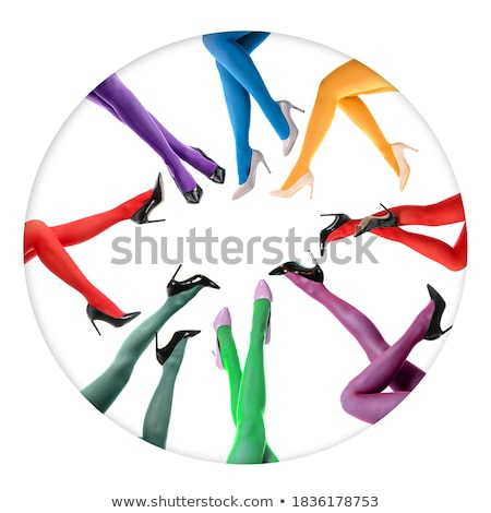 collage of shapely female legs in colorful tights stock photo © ruslanomega