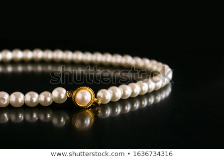 жемчуга · шелковые · ткань · ожерелье · женщины · Sexy - Сток-фото © yul30