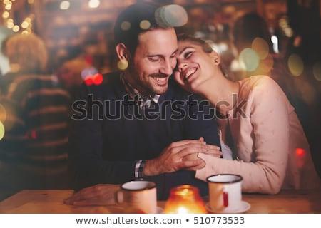 Gelukkig paar restaurant romantische datum liefde Stockfoto © juniart
