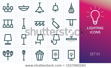 Icon Chandelier Stock photo © zzve
