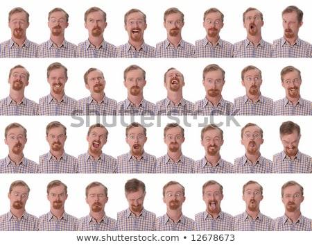Részletek nagy arckifejezések közelkép arc boldog Stock fotó © vladacanon
