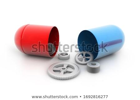 Pílula engrenagens dentro metal hospital Foto stock © 4designersart