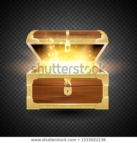 Tesoro finestra piccolo open monete d'oro Foto d'archivio © hyrons