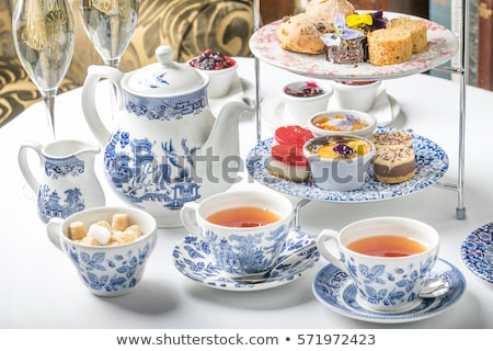 cheesecake and cup of tea stock photo © doupix