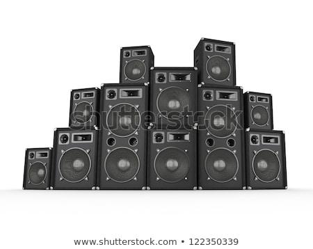 resumen · orador · silueta · cartas · cabeza · boca - foto stock © nicemonkey