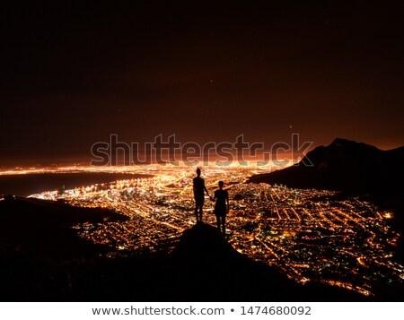 fej · Fokváros · panoráma · város · asztal · hegy - stock fotó © bradleyvdw