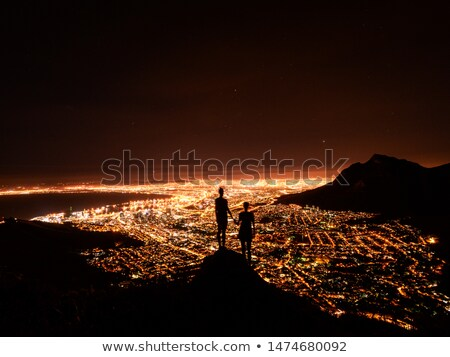 Hoofd Cape Town panorama stad tabel berg Stockfoto © bradleyvdw