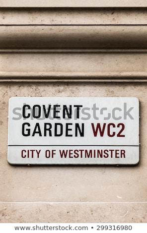 Tuin teken gebouw Londen Engeland geïsoleerd Stockfoto © luissantos84