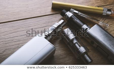 черный электронных сигарету лист технологий пластиковых Сток-фото © stryjek