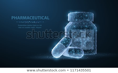 dois · branco · médico · pílulas · isolado · medicina - foto stock © blotty