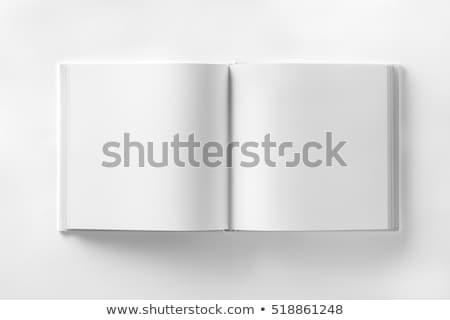 Foto stock: Abrir · branco · livro · livro · aberto · 3d · render · isolado