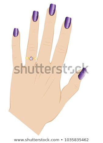 Violet amethist menselijke hand geïsoleerd witte natuur Stockfoto © jonnysek