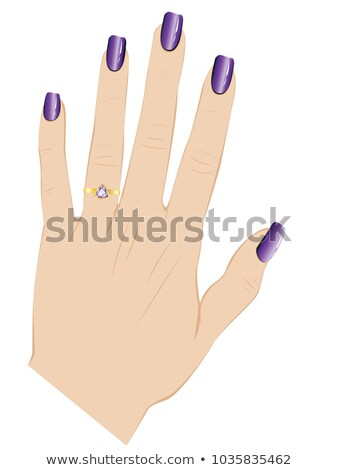 Violeta ametista mão humana isolado branco natureza Foto stock © jonnysek