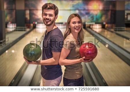 Giovane palla da bowling sport divertimento Foto d'archivio © Jasminko