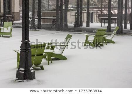 Grand chaise en bois alpes hiver pic Autriche Photo stock © janhetman