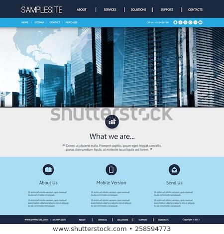 Website template for corporate business Stock photo © DavidArts