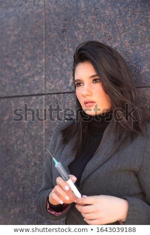Portré törődés profi vonzó fiatal női Stock fotó © kasto