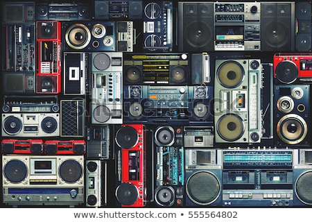 Stedelijke muziek vintage meisje milieu huis Stockfoto © Spectral