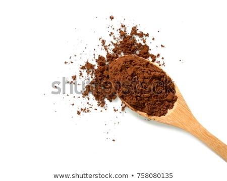 Siyah kahve koyu çikolata kaşık beyaz fotoğraf Stok fotoğraf © tab62