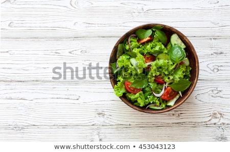 Saláta saláta izolált fehér textúra természet Stock fotó © natika