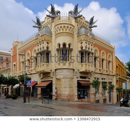 casa · dragón · edificio · diseno · arquitectura · estatua - foto stock © serpla