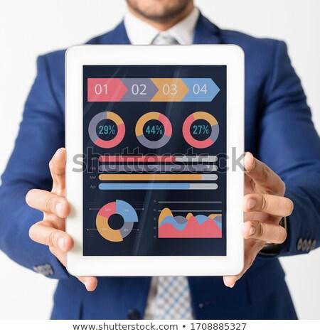 Ordinateur comprimé graphique graphique Photo stock © designers