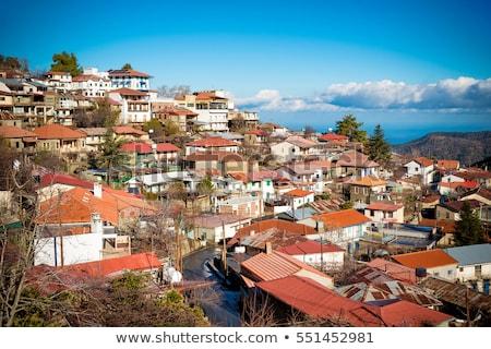 panorámica · vista · famoso · pueblo · Chipre - foto stock © kirill_m