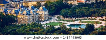 luxembourg palace in jardin du luxembourg in paris stock photo © chrisdorney