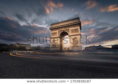 lugar · Arco · do · Triunfo · Paris · placa · de · rua · assinar · viajar - foto stock © chrisdorney