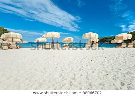 пляж зонтик острове Италия небе океана Сток-фото © Antonio-S