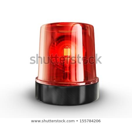 Piros villanó fény fehér rendőrség mentő Stock fotó © tilo