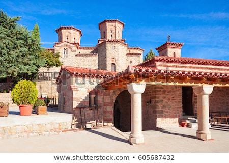христианской православный монастырь Греция крест Церкви Сток-фото © ankarb