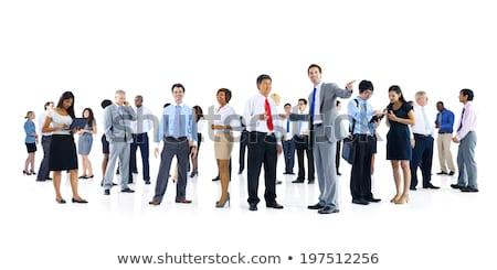 Nagyobb csoport izolált szatyrok kollázs fehér vásárlás Stock fotó © gemenacom