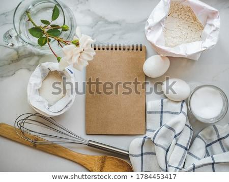 Gebakken ei voedsel koken room maaltijd Stockfoto © M-studio