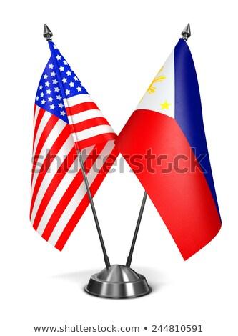 USA Philippines miniature drapeaux isolé blanche Photo stock © tashatuvango