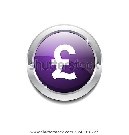 Pound para imzalamak vektör mor Stok fotoğraf © rizwanali3d
