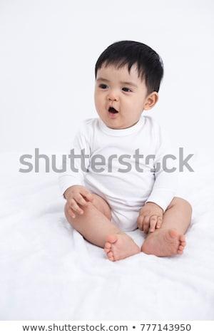Baby portret miesiąc starych biały Zdjęcia stock © nyul