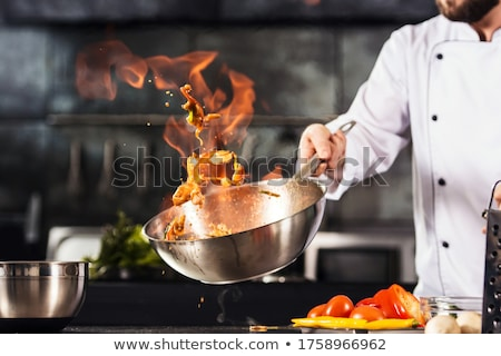Stock fotó: Chef Keeps A Dish